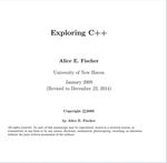 Exploring C++ by Alice E. Fischer