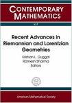 Recent Advances in Riemannian and Lorentzian Geometries by Krishan L. Duggal and Ramesh Sharma
